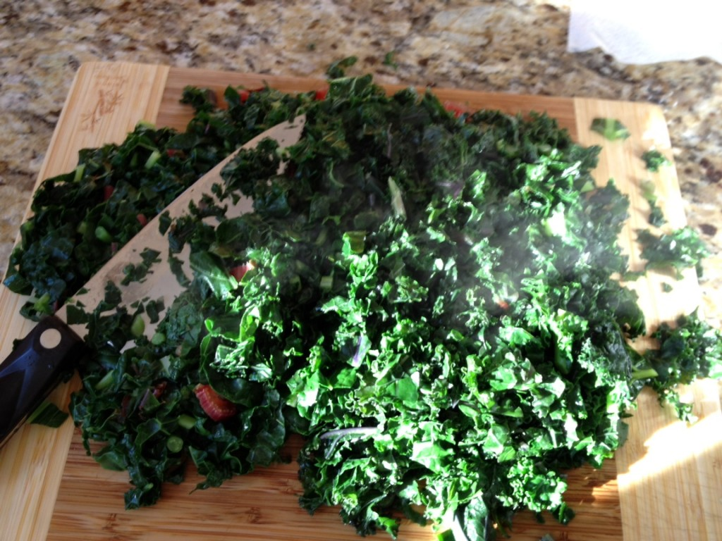 chopped greens