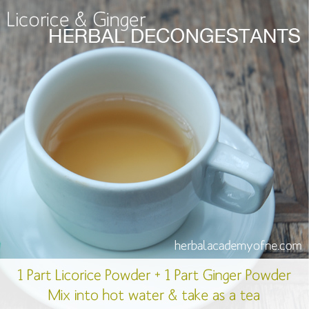 herbal decongestants