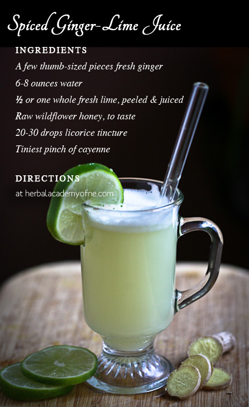 Spiced Ginger-Lime Juice