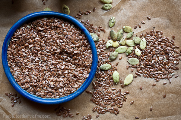 Seed Cycling For Hormonal Balance - pumpkin and flax seeds