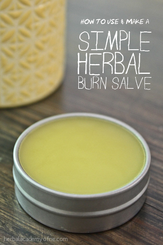 How to use and make a Herbal Burn Salve - Herbal Academy of New England