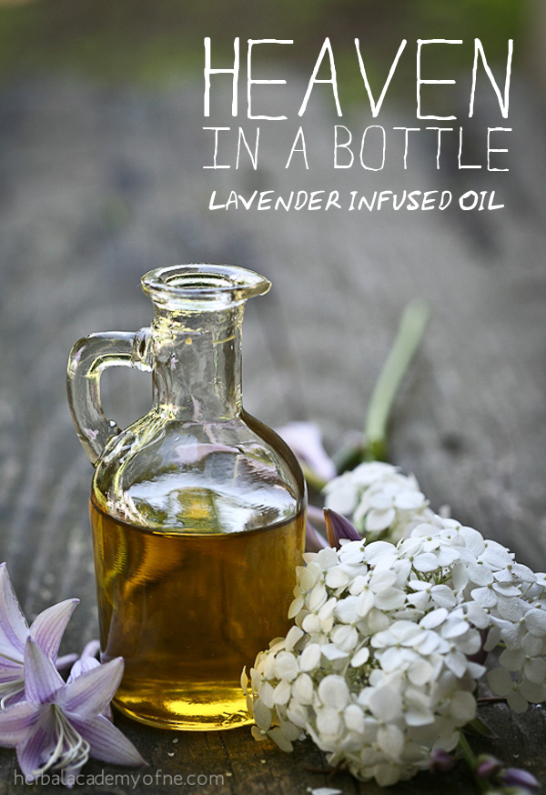 Heaven in a Bottle - lavender infused oil recipe