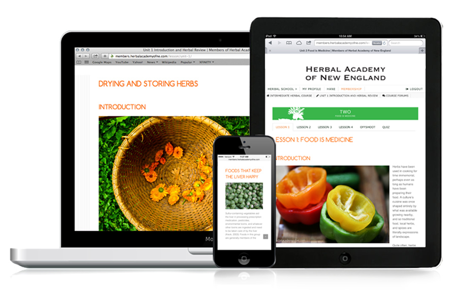 Online Herbal Course - Access on Mobile Devices