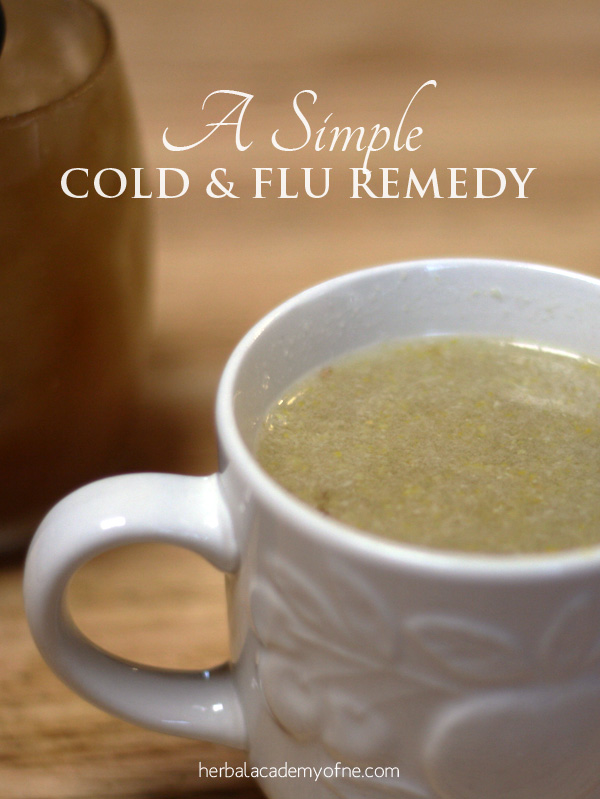 A Simple Cold and Flu Remedy from the Herbal Academy of New England Blog