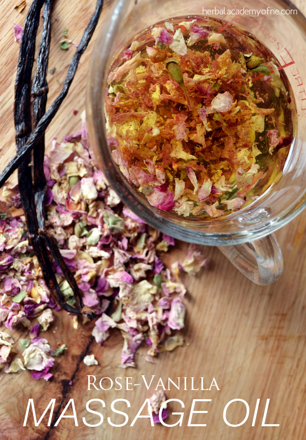 Rose Vanilla Massage Oil - from the Herbal Academy blog