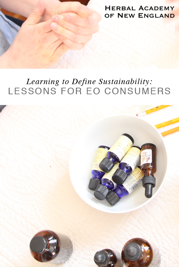 Using Essential Oils - Lessons in Sustainability