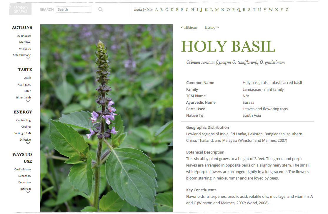 The Herbarium Holy Basil Preview
